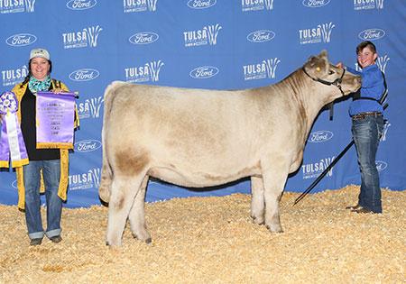 2020 Champion Charolais Composite, Tulsa State Fair, Kash Harris